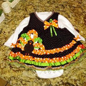 Adorable Infant Girls Thanksgiving Turkey Dress
